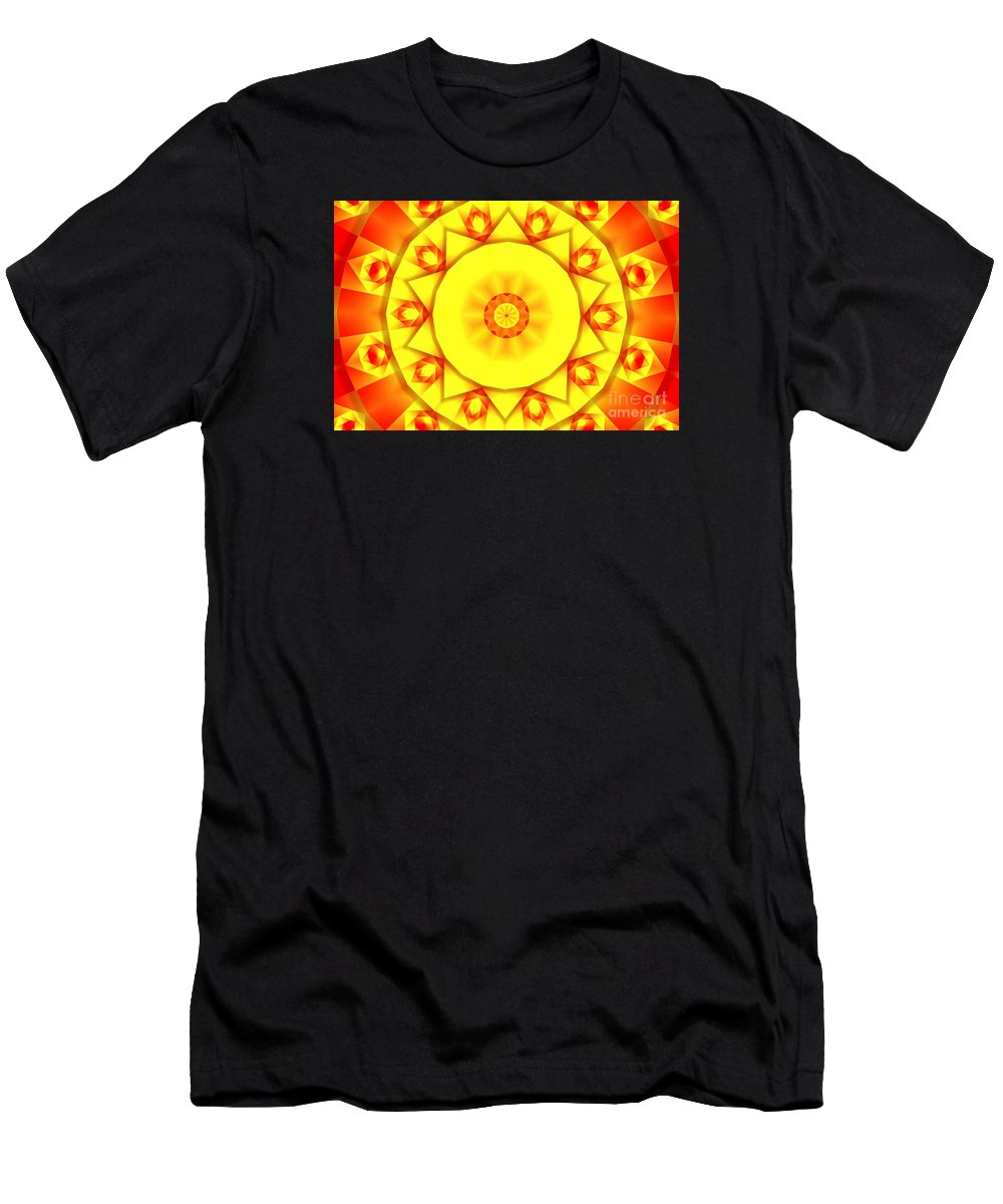 Kaleidoscope Men's T-Shirt (Athletic Fit) featuring the photograph Kaleidoscope 100 by Ron Bissett