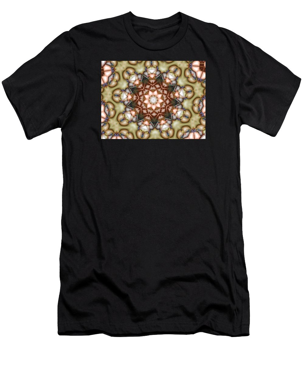 Star Men's T-Shirt (Athletic Fit) featuring the photograph Kaleidoscope 108 by Ron Bissett