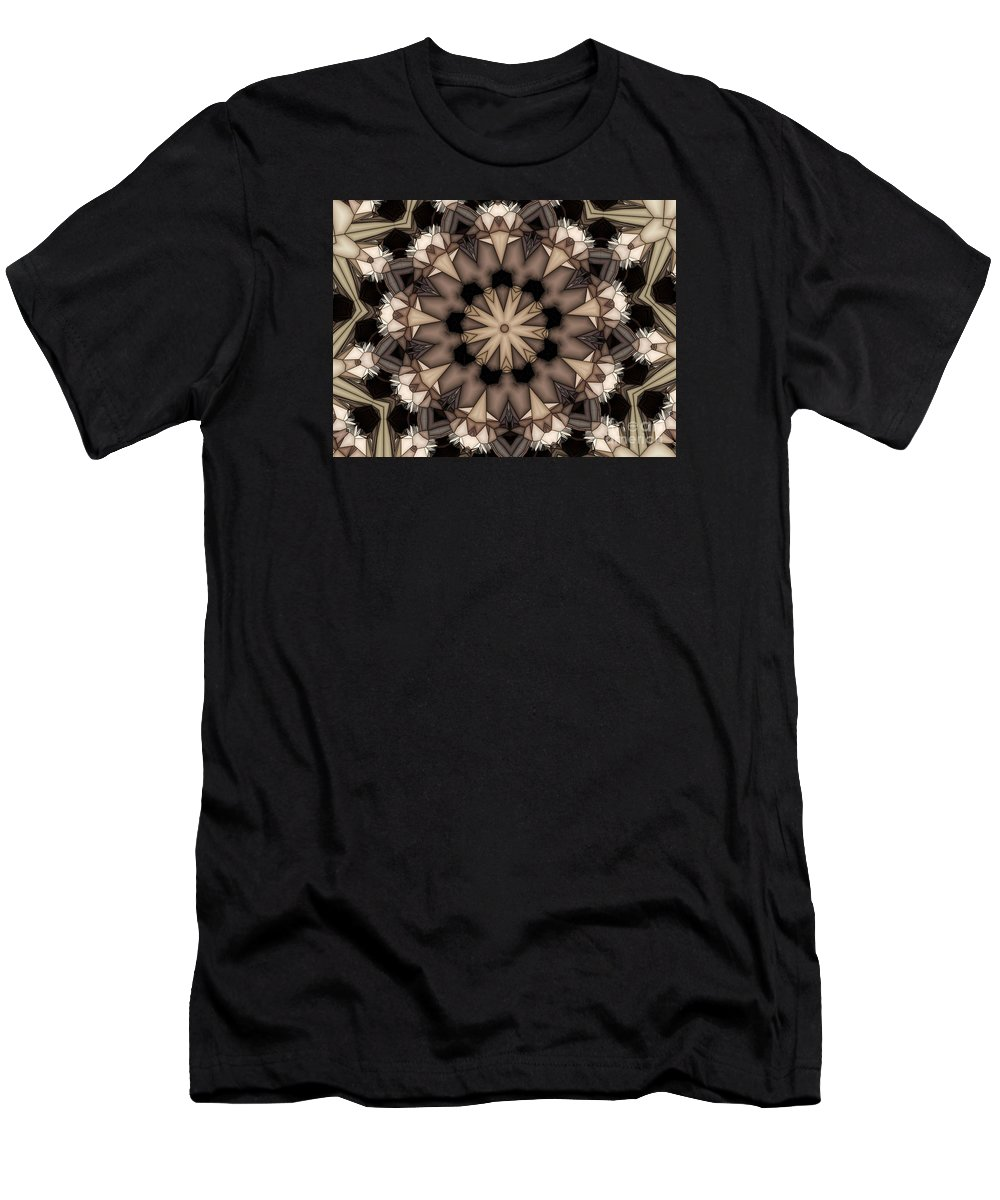 Kaleidoscope Men's T-Shirt (Athletic Fit) featuring the digital art Kaleidoscope 114 by Ron Bissett
