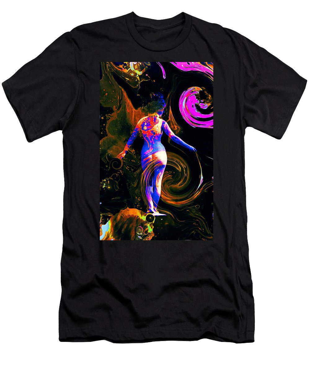 Kaleidoscope Men's T-Shirt (Athletic Fit) featuring the photograph Kaleidoscope Eyes... by Arthur Miller