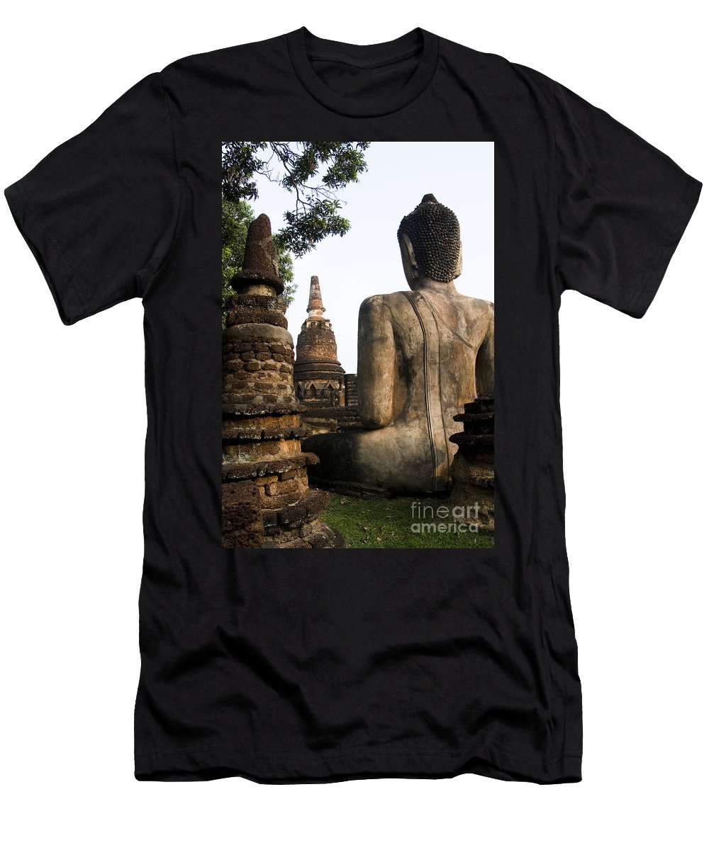 Ancient Men's T-Shirt (Athletic Fit) featuring the photograph Kamphaeng Phet by Bill Brennan - Printscapes