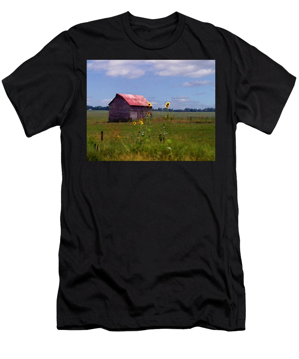 Landscape Men's T-Shirt (Athletic Fit) featuring the photograph Kansas Landscape by Steve Karol