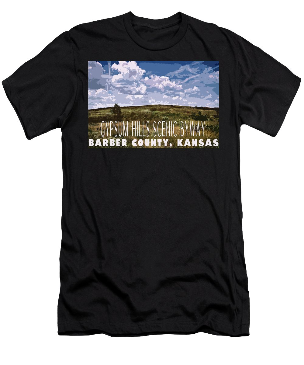 Men's T-Shirt (Athletic Fit) featuring the photograph Kansas Travel Image Four by Tyler Ross