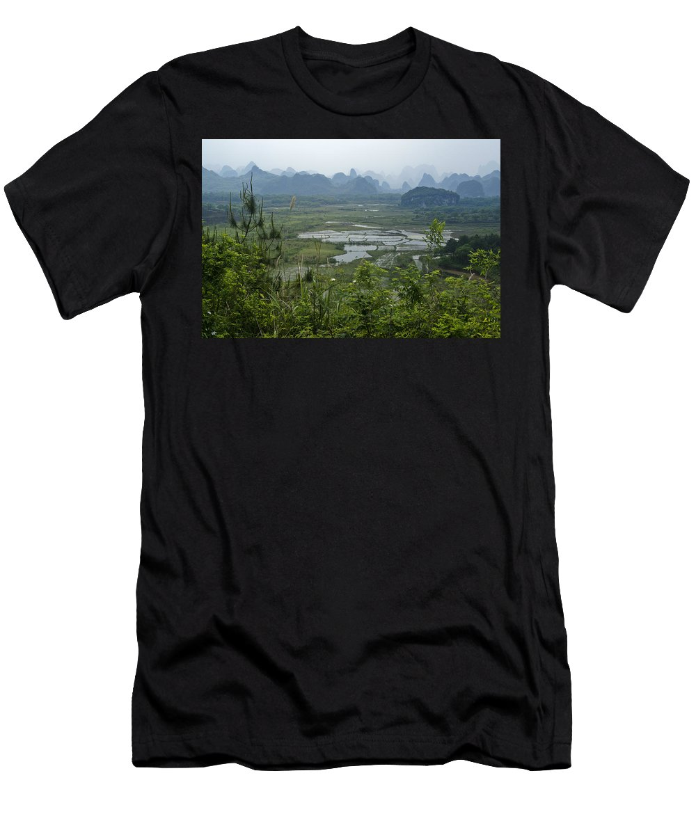 Asia T-Shirt featuring the photograph Karst Landscape of Guangxi by Michele Burgess