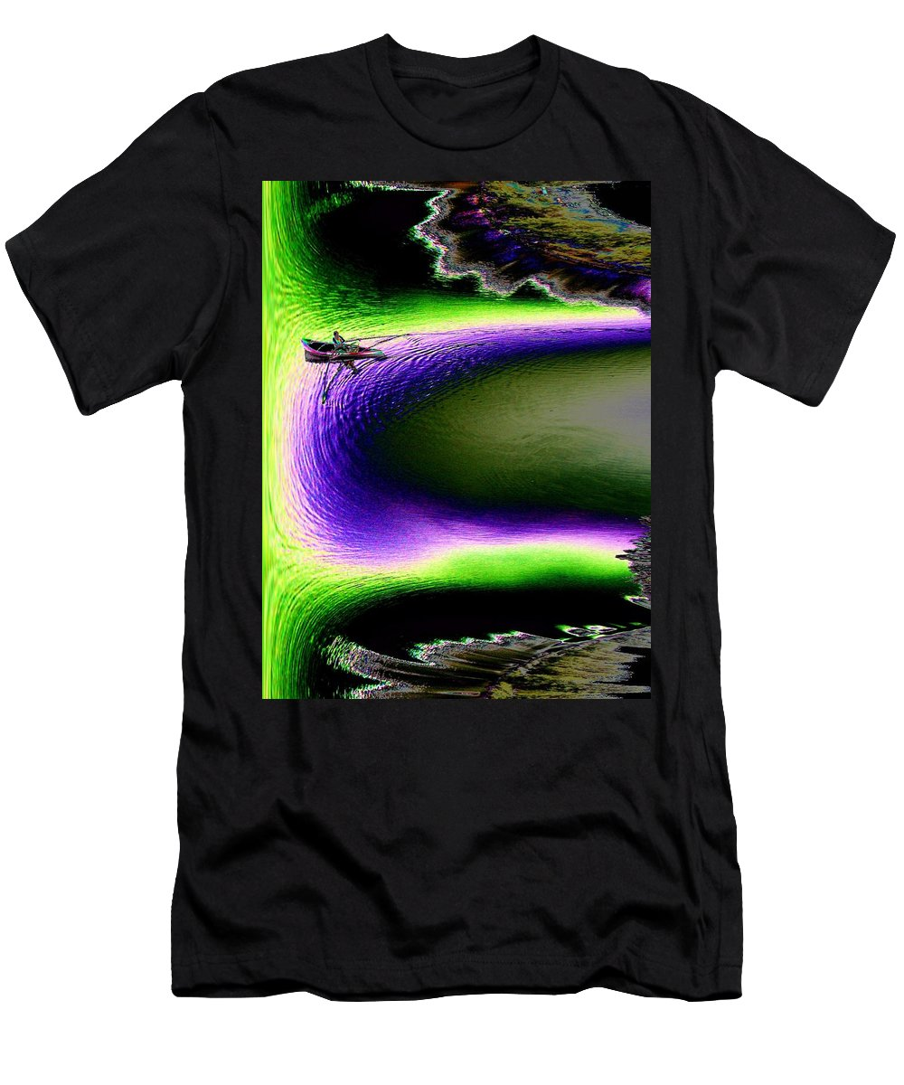 Seattle Men's T-Shirt (Athletic Fit) featuring the digital art Kayak In The Cut by Tim Allen