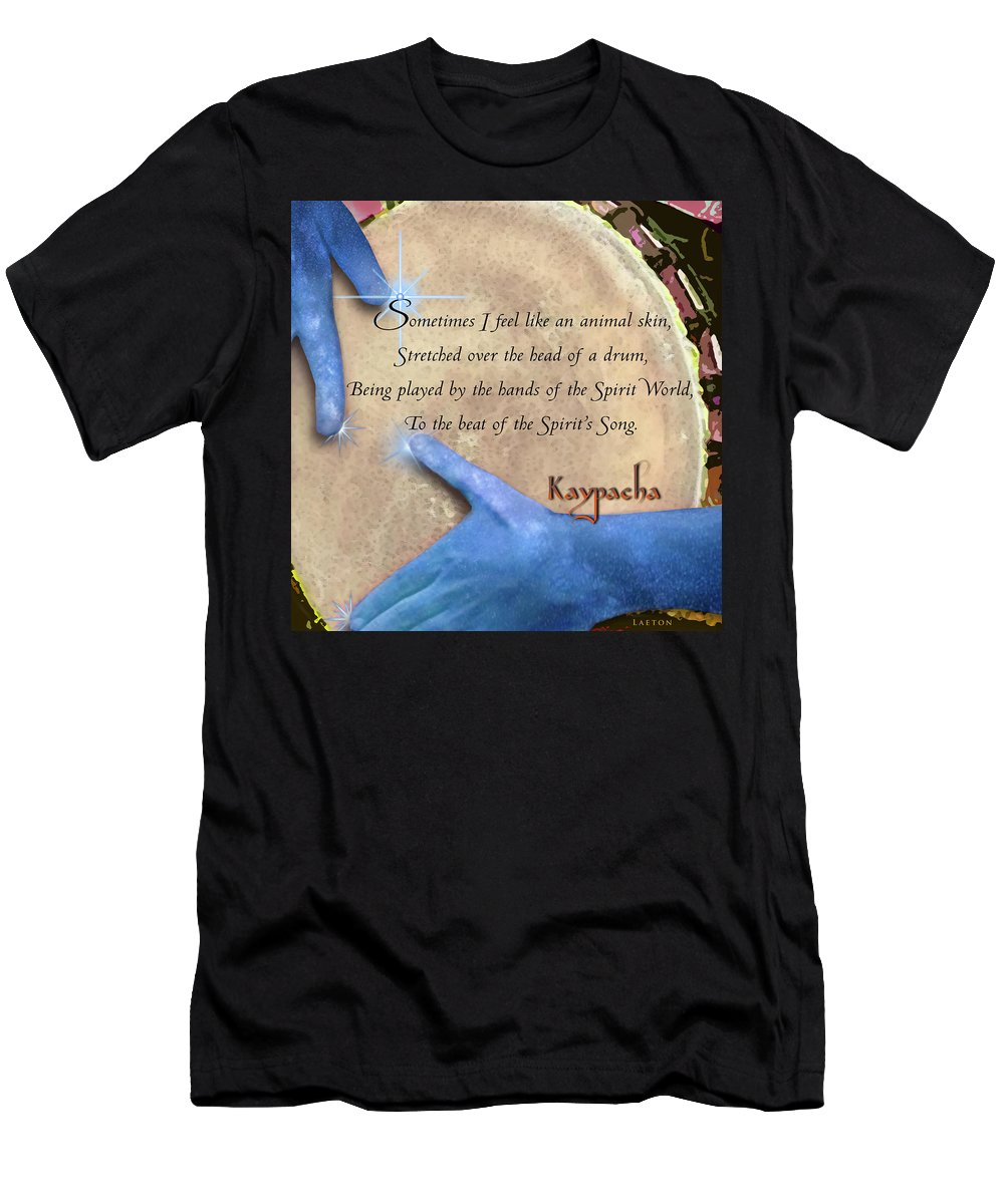New Age Men's T-Shirt (Athletic Fit) featuring the digital art Kaypacha May 18, 2016 by Richard Laeton