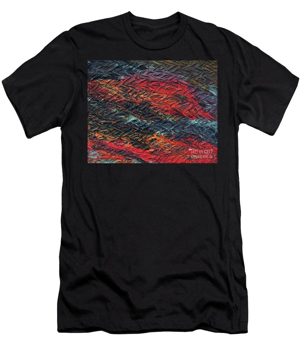 Keith Elliott Men's T-Shirt (Athletic Fit) featuring the painting Keelee's Revenge - V1lle35 by Keith Elliott
