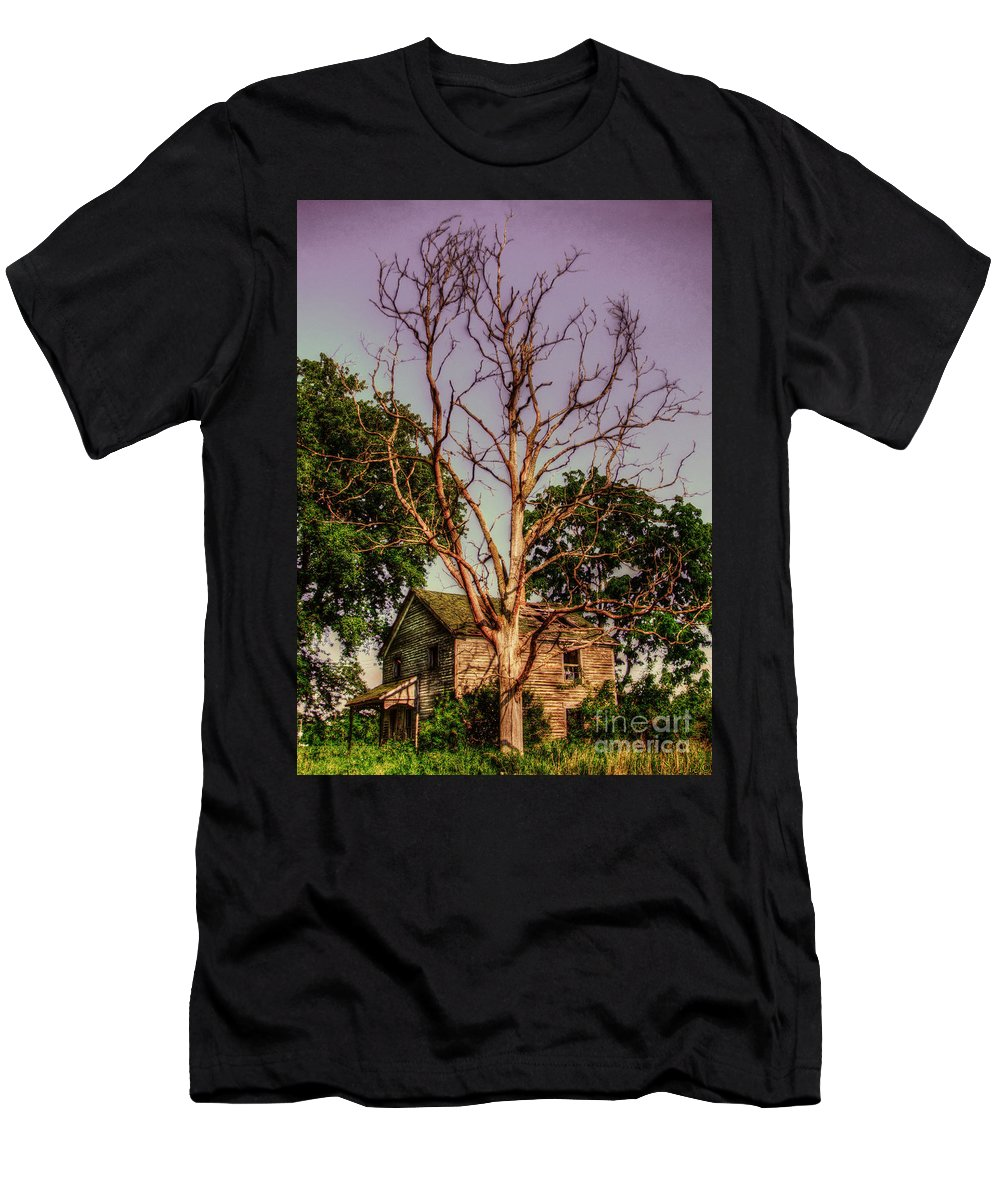 Hdr Men's T-Shirt (Athletic Fit) featuring the photograph Keep Out by September Stone