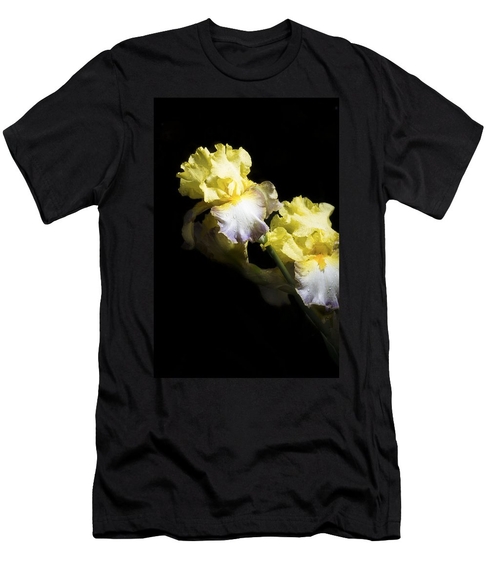 Agriculture Men's T-Shirt (Athletic Fit) featuring the photograph Keep Smiling Iris by John Trax