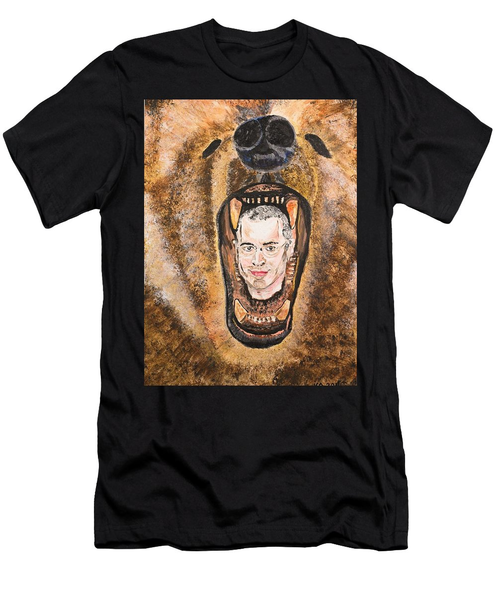 Mikhail Khodorkovsky Men's T-Shirt (Athletic Fit) featuring the painting Keep Smiling by Valerie Ornstein