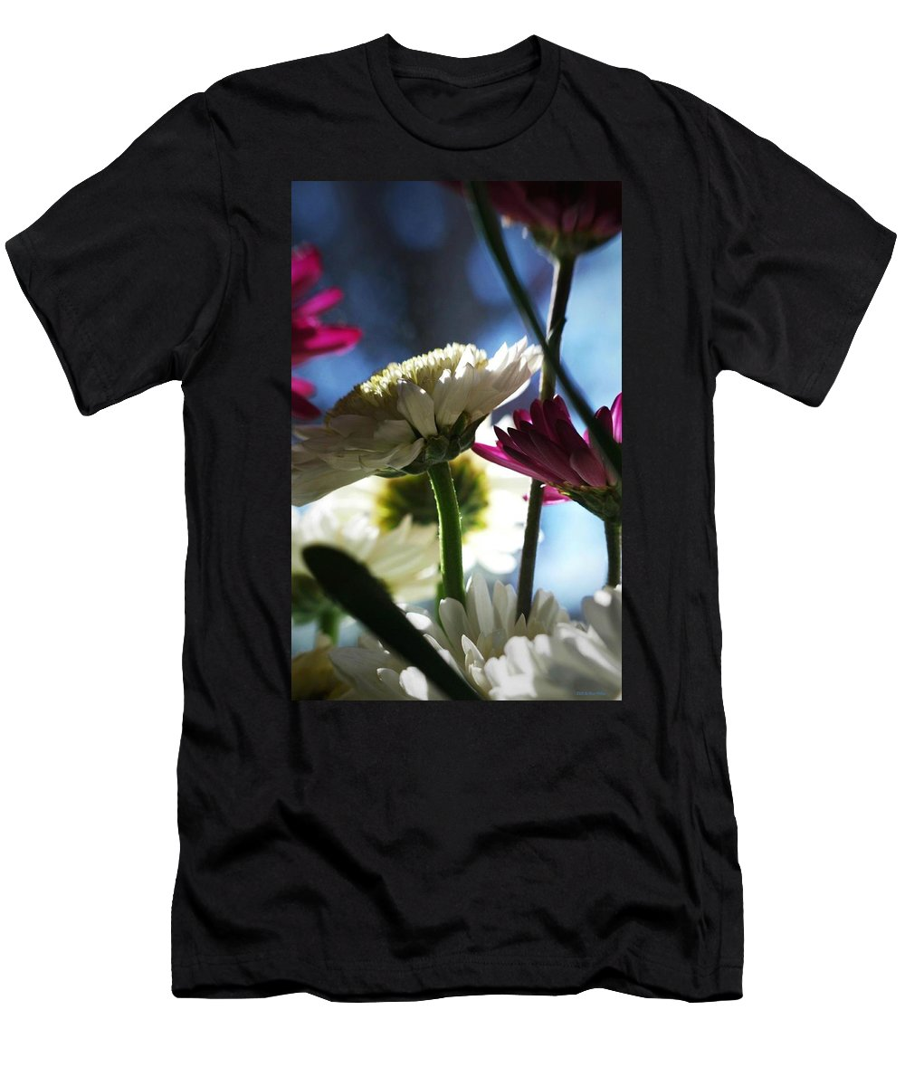 Flowers Men's T-Shirt (Athletic Fit) featuring the photograph Keeping In The Sunlight... by Arthur Miller