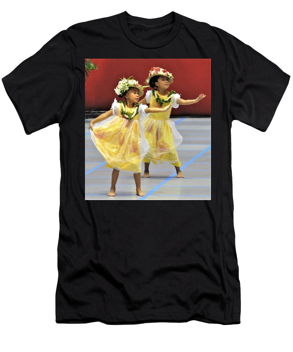 Hula Men's T-Shirt (Athletic Fit) featuring the photograph Keiki Hula by Heidi Fickinger