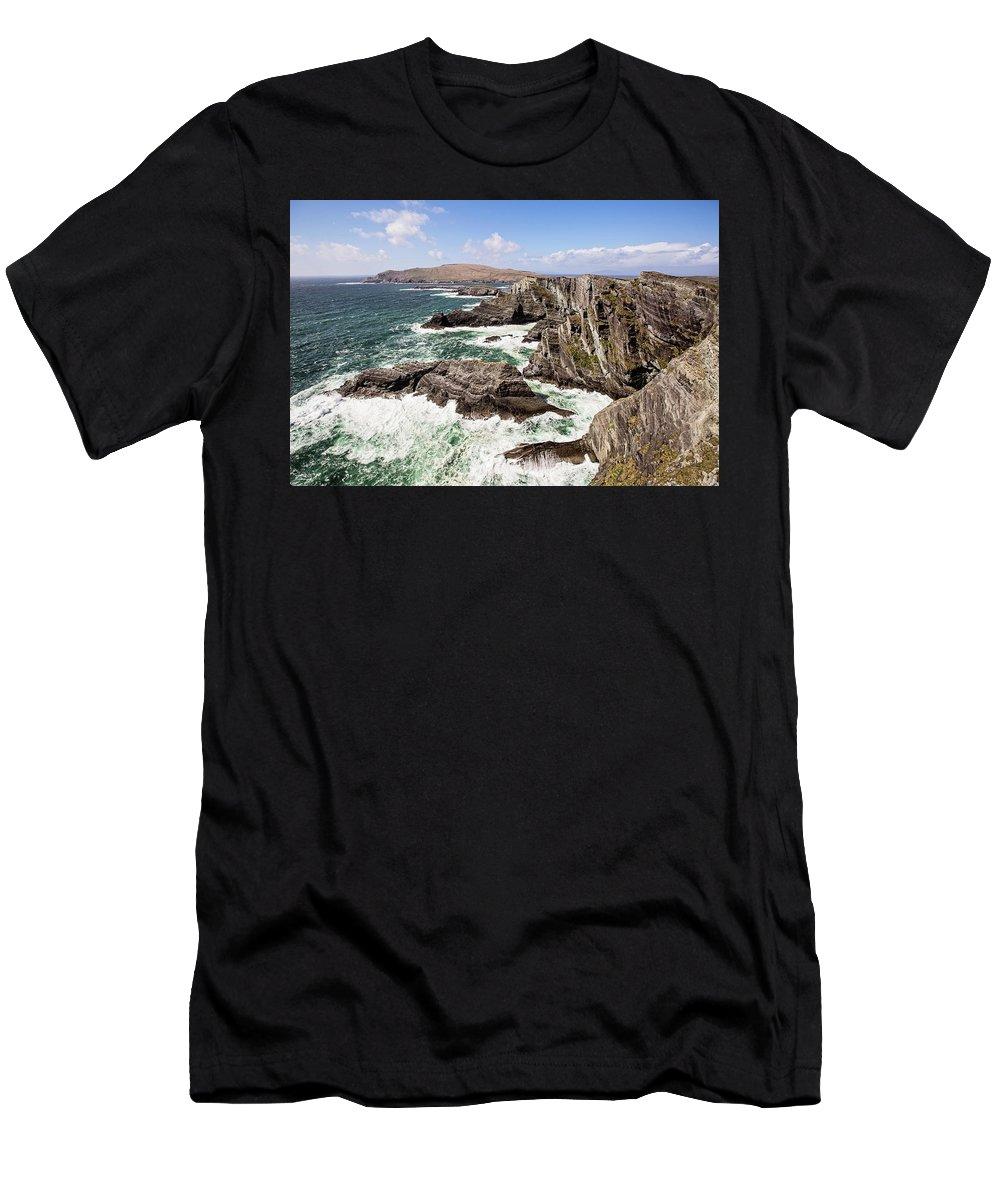 Republic Of Ireland Men's T-Shirt (Athletic Fit) featuring the photograph Kerry Cliffs by Scott Pellegrin