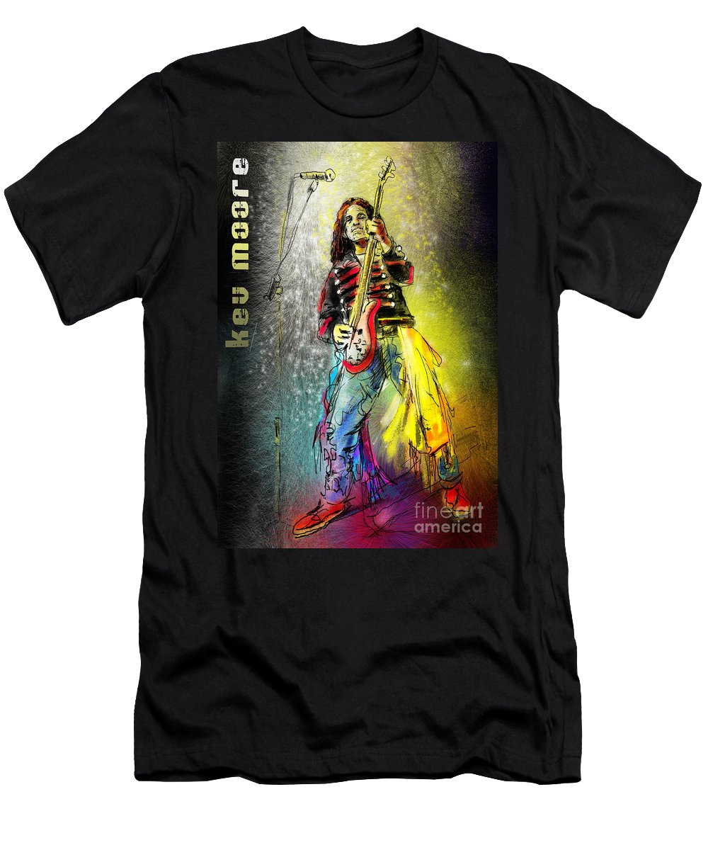 Kev Moore Portrait Men's T-Shirt (Athletic Fit) featuring the digital art Kev Moore by Miki De Goodaboom