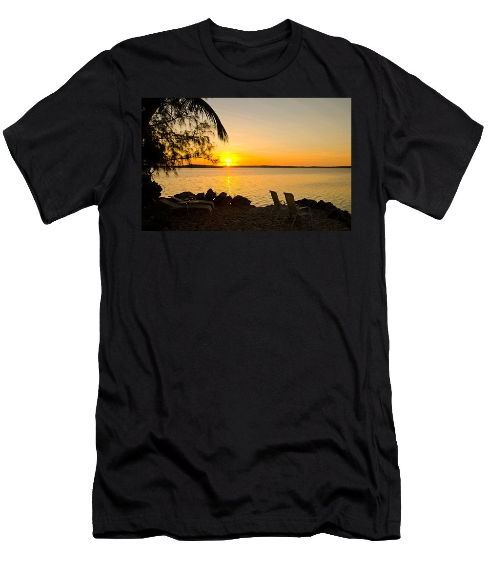 Sunrise Men's T-Shirt (Athletic Fit) featuring the photograph Key Largo Sunrise by Chris Thaxter