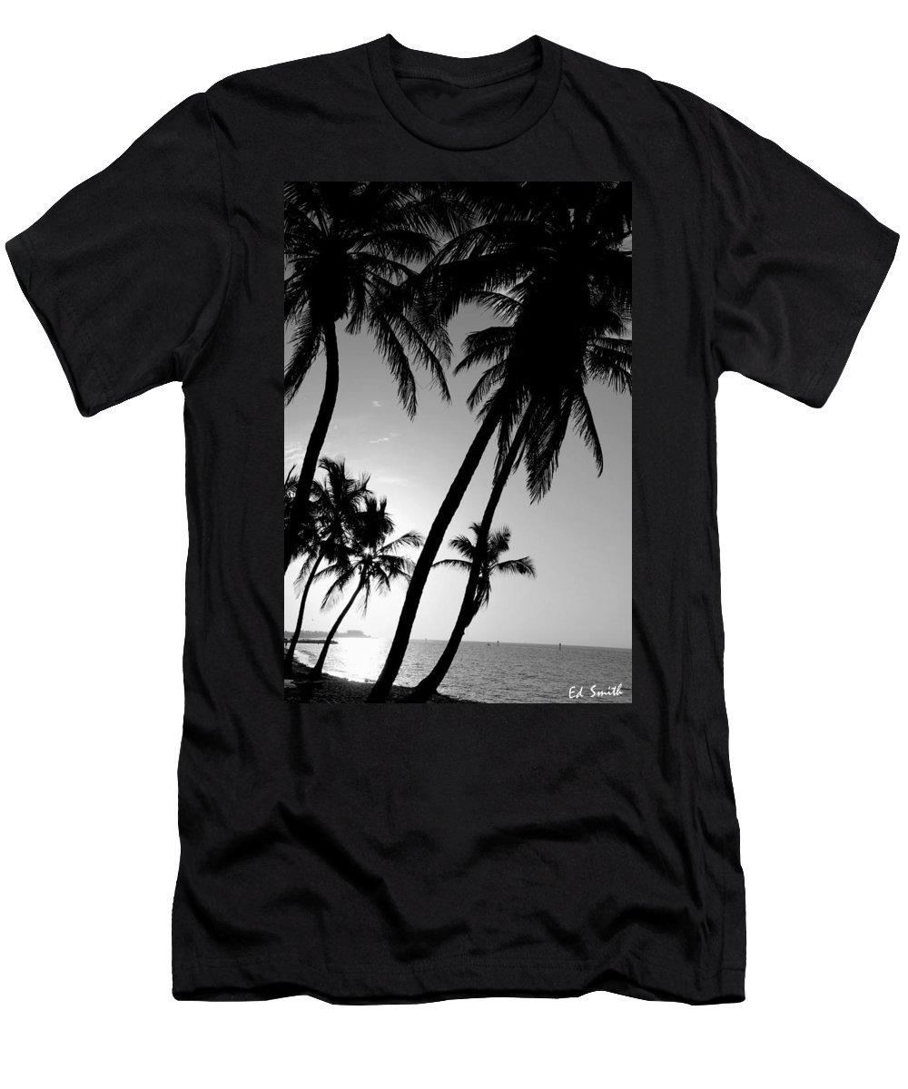 Key West Sunrise Men's T-Shirt (Athletic Fit) featuring the photograph Key West Sunrise by Edward Smith