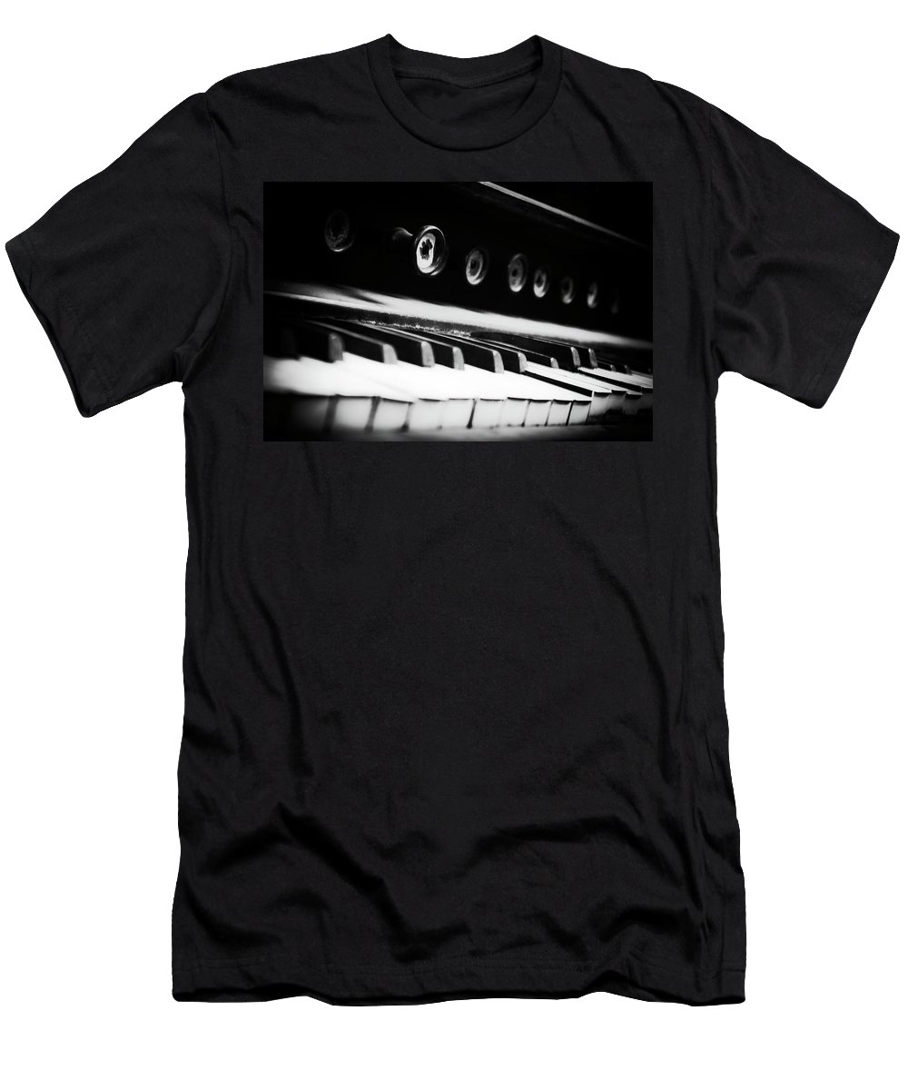 Organ Men's T-Shirt (Athletic Fit) featuring the photograph Keys Of Old by Scott Wyatt