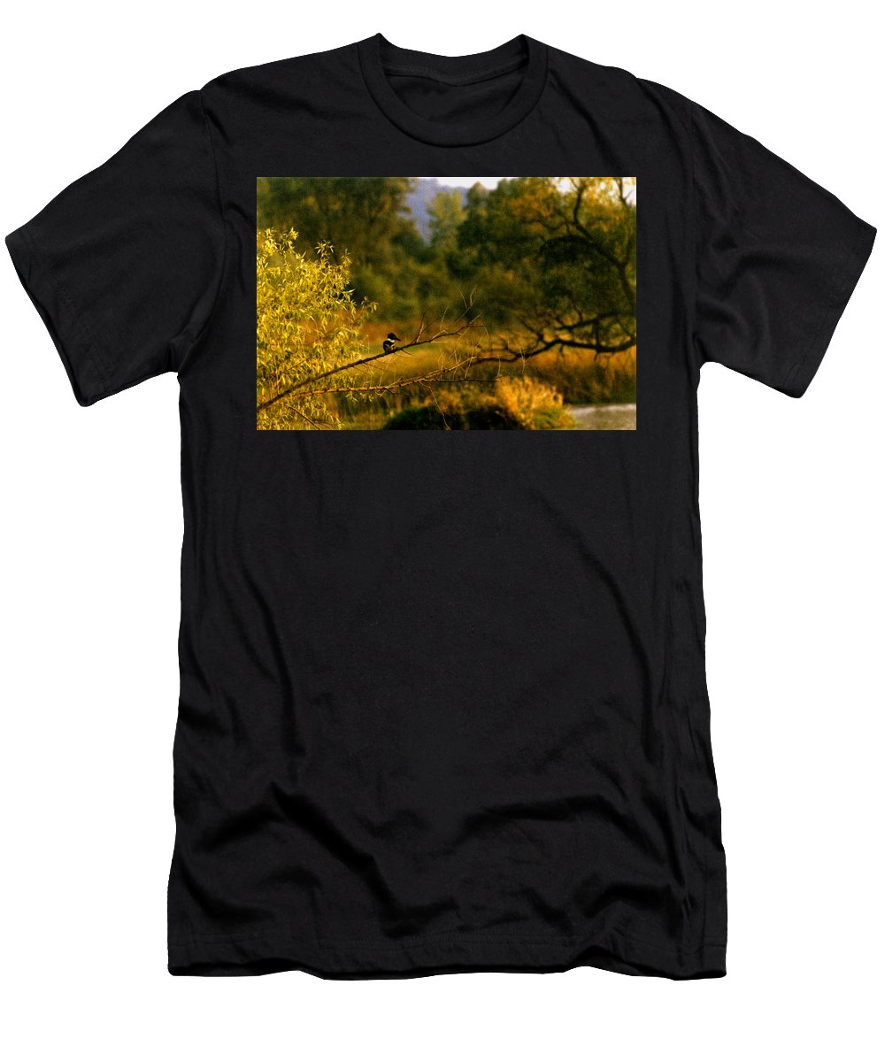 Landscape Men's T-Shirt (Athletic Fit) featuring the photograph King Fisher by Steve Karol