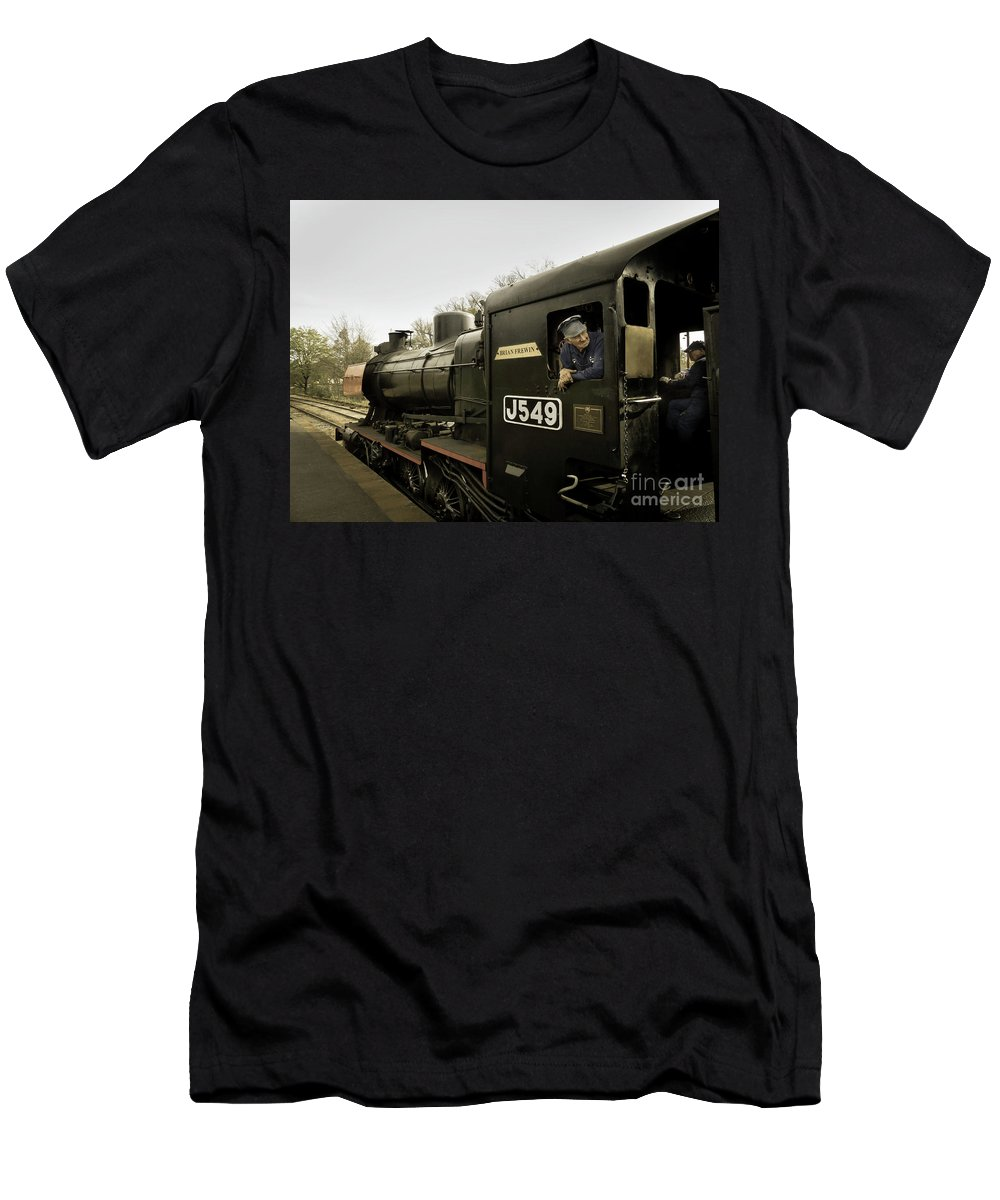Belching Fire Men's T-Shirt (Athletic Fit) featuring the photograph King Of The Road by Teresa A and Preston S Cole Photography