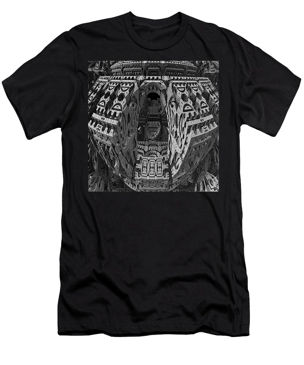 Mandelbulb Men's T-Shirt (Athletic Fit) featuring the digital art King's Burial Chamber by Lyle Hatch