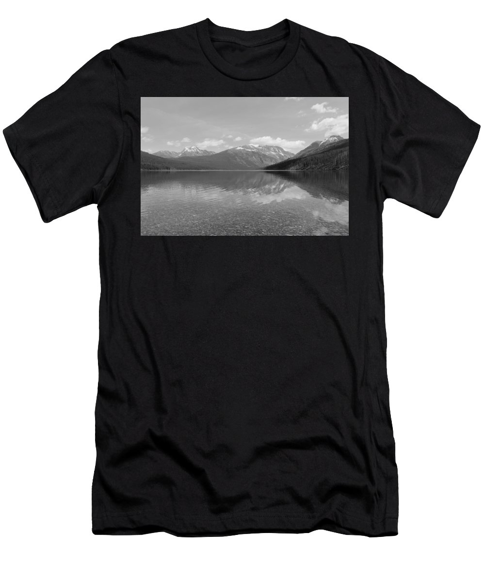 Travel Men's T-Shirt (Athletic Fit) featuring the photograph Kintla Lake by Nicholas Miller