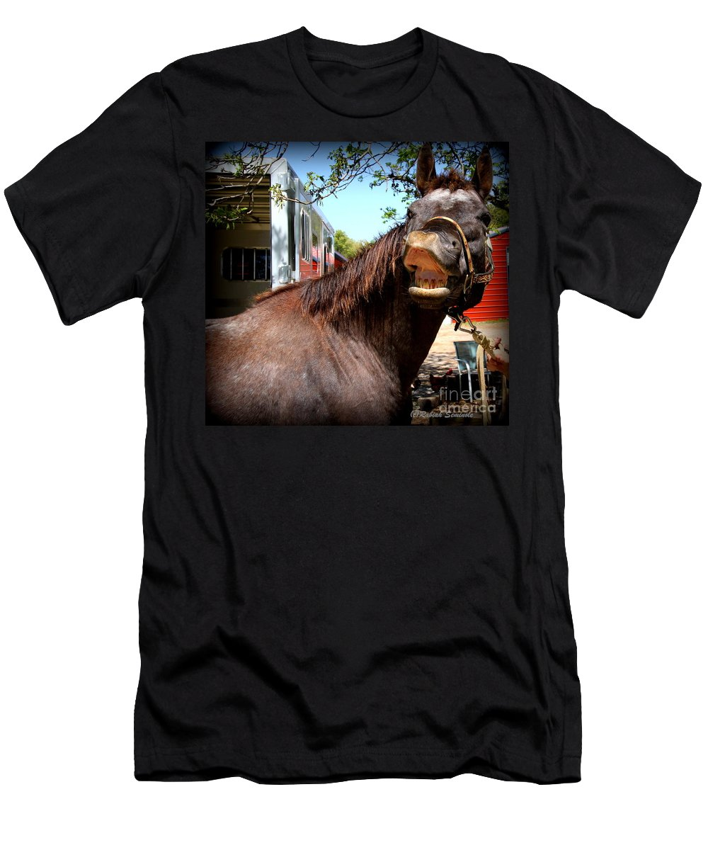 Horses Men's T-Shirt (Athletic Fit) featuring the photograph Kiss Me by Rabiah Seminole