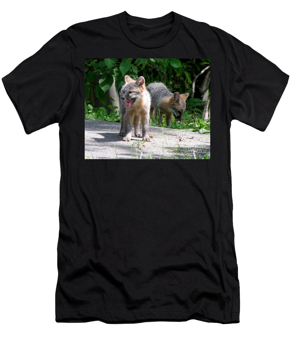 Kit Fox Men's T-Shirt (Athletic Fit) featuring the photograph Kit Fox12 by Torie Tiffany
