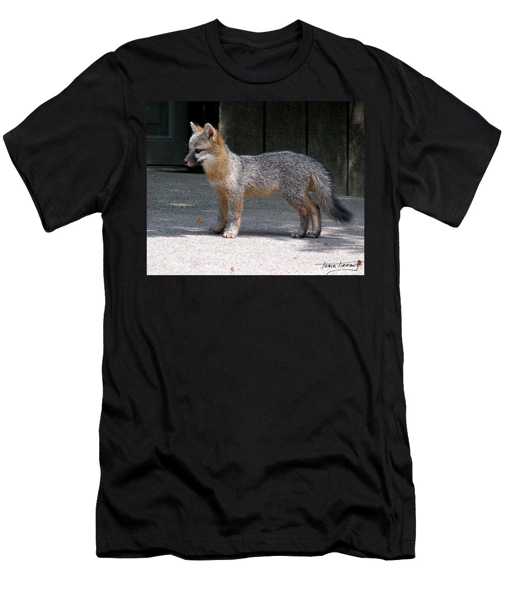 Kit Fox Men's T-Shirt (Athletic Fit) featuring the photograph Kit Fox14 by Torie Tiffany