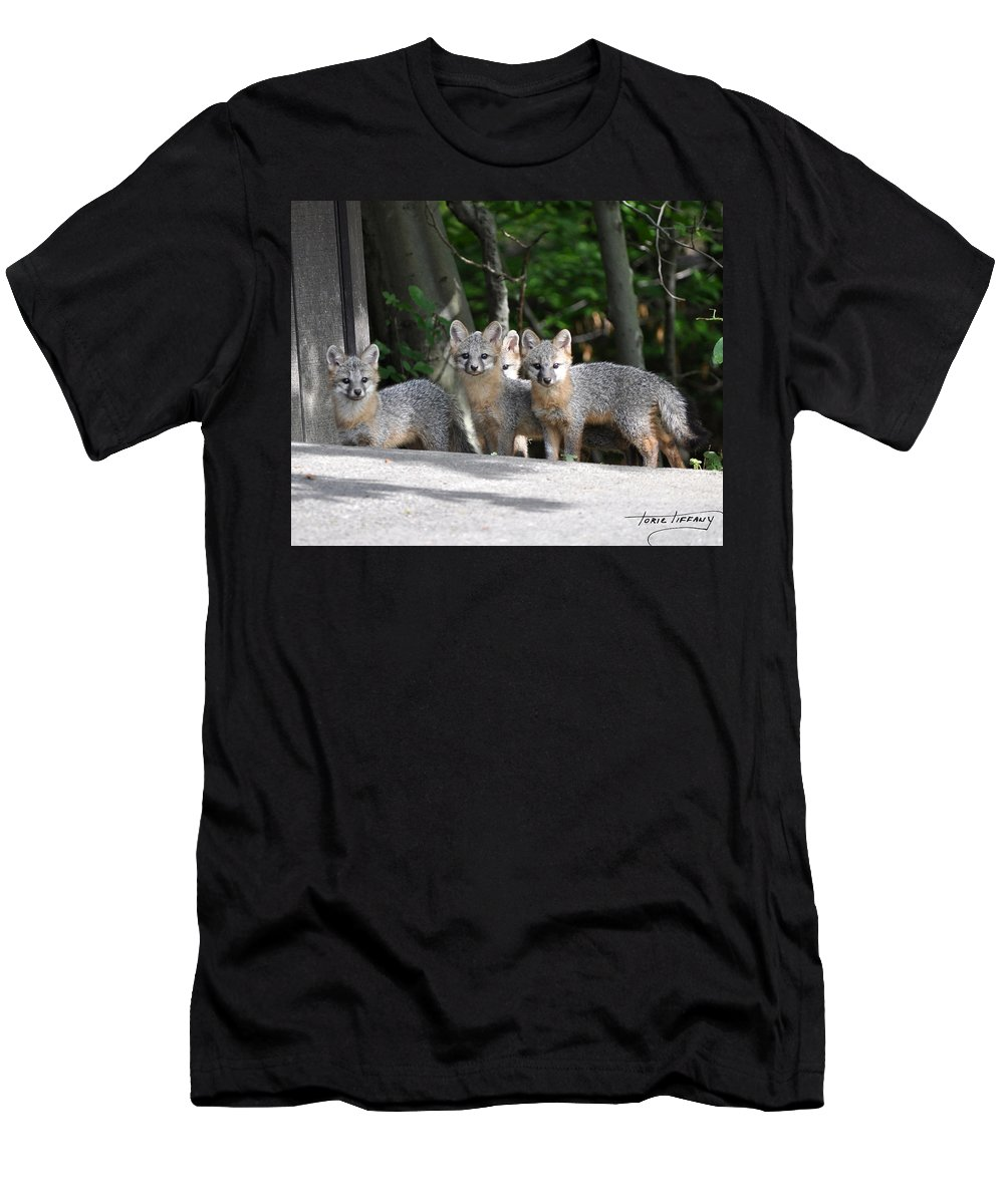 Kit Fox Men's T-Shirt (Athletic Fit) featuring the photograph Kit Fox9 by Torie Tiffany