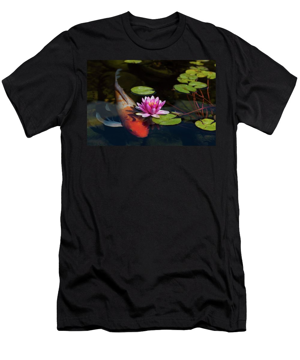 Koi Men's T-Shirt (Athletic Fit) featuring the photograph We Are One by Tran Boelsterli
