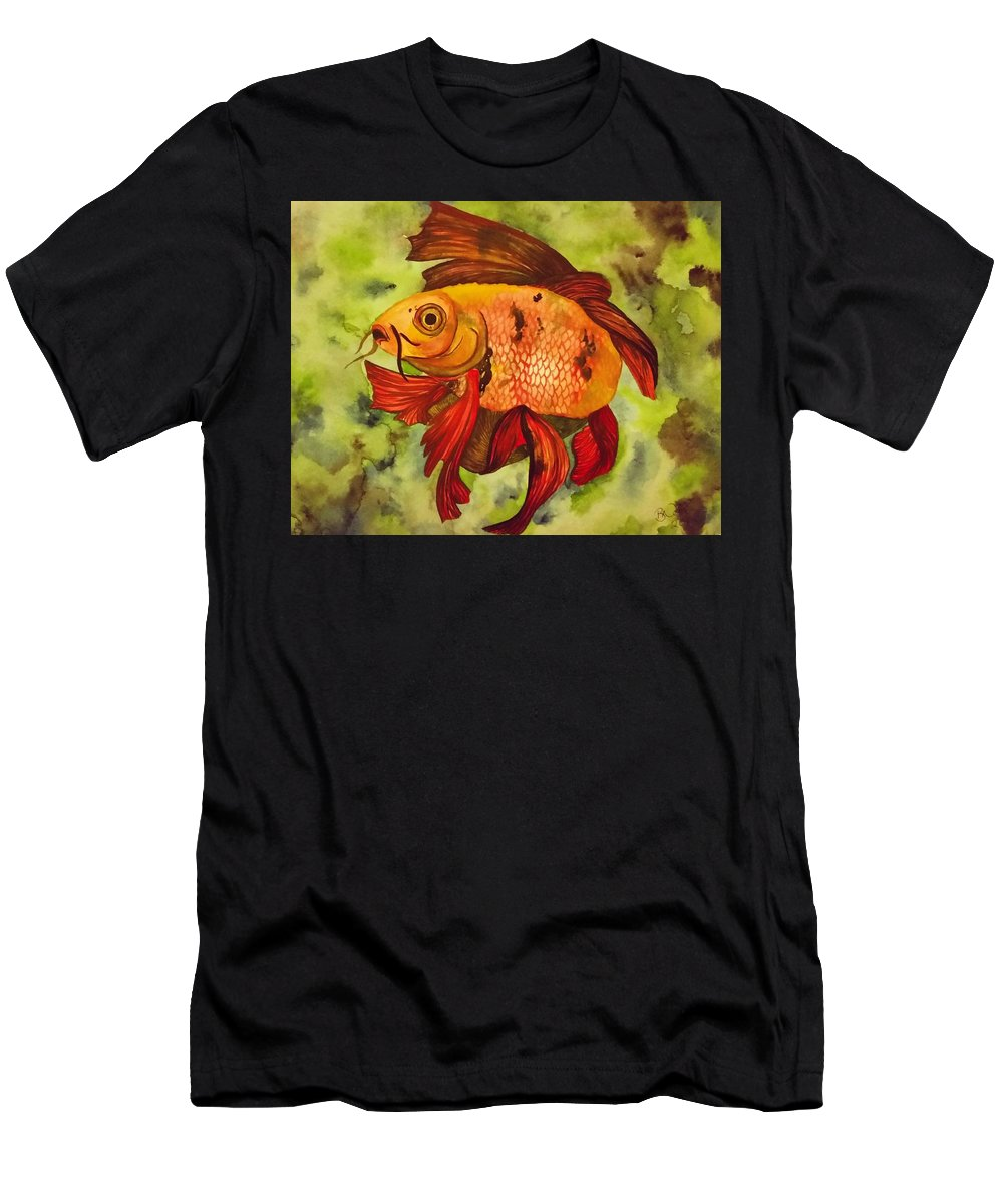 Fish Men's T-Shirt (Athletic Fit) featuring the painting Koi by Brooklynn Ash
