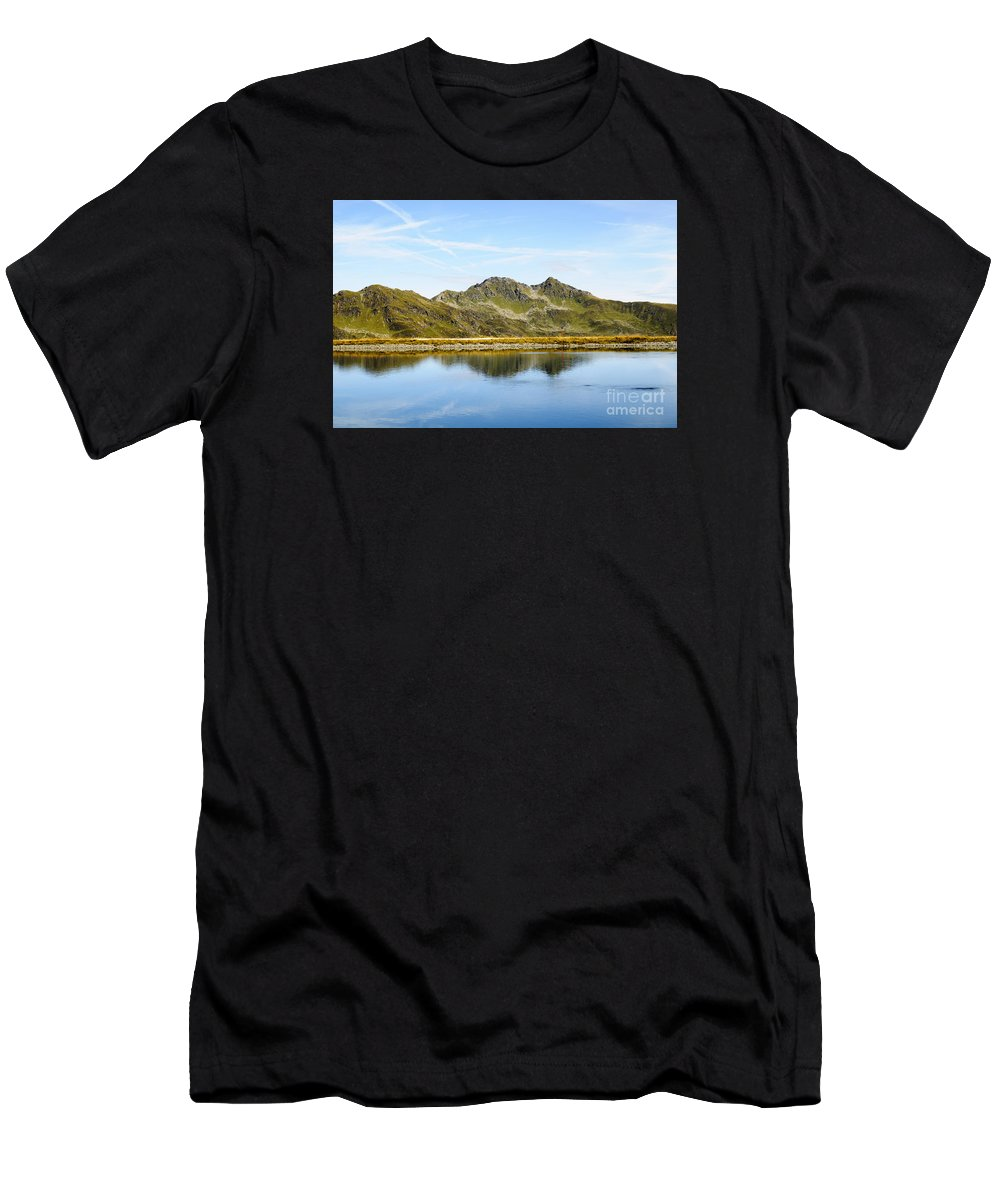 Underwater Spring Men's T-Shirt (Athletic Fit) featuring the photograph Konigsleiten Mountain Top. Tyrol, Austria by Ilan Rosen
