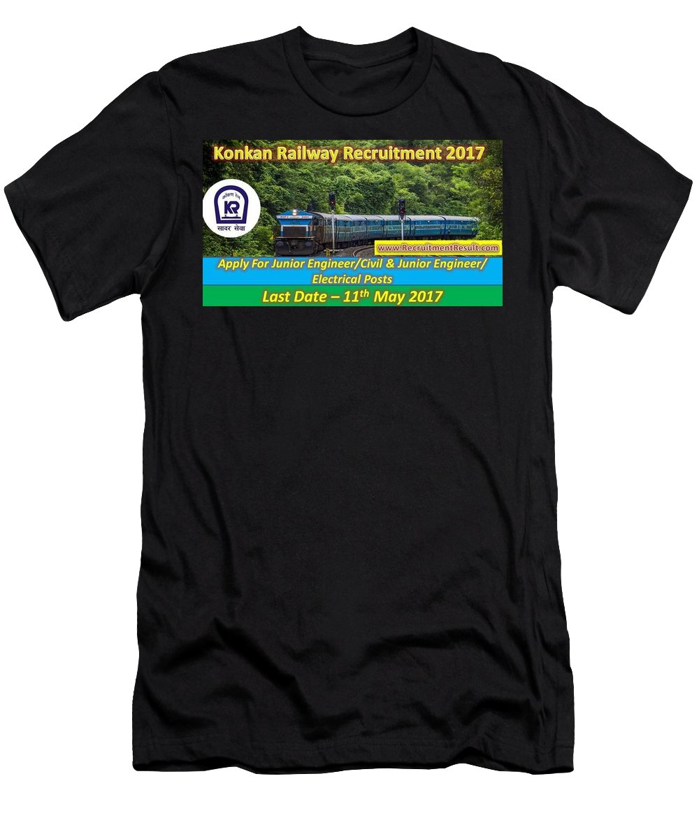 Konkan Railway Recruitment Men's T-Shirt (Athletic Fit) featuring the photograph Konkan Railway Recruitment by Recruitment Result