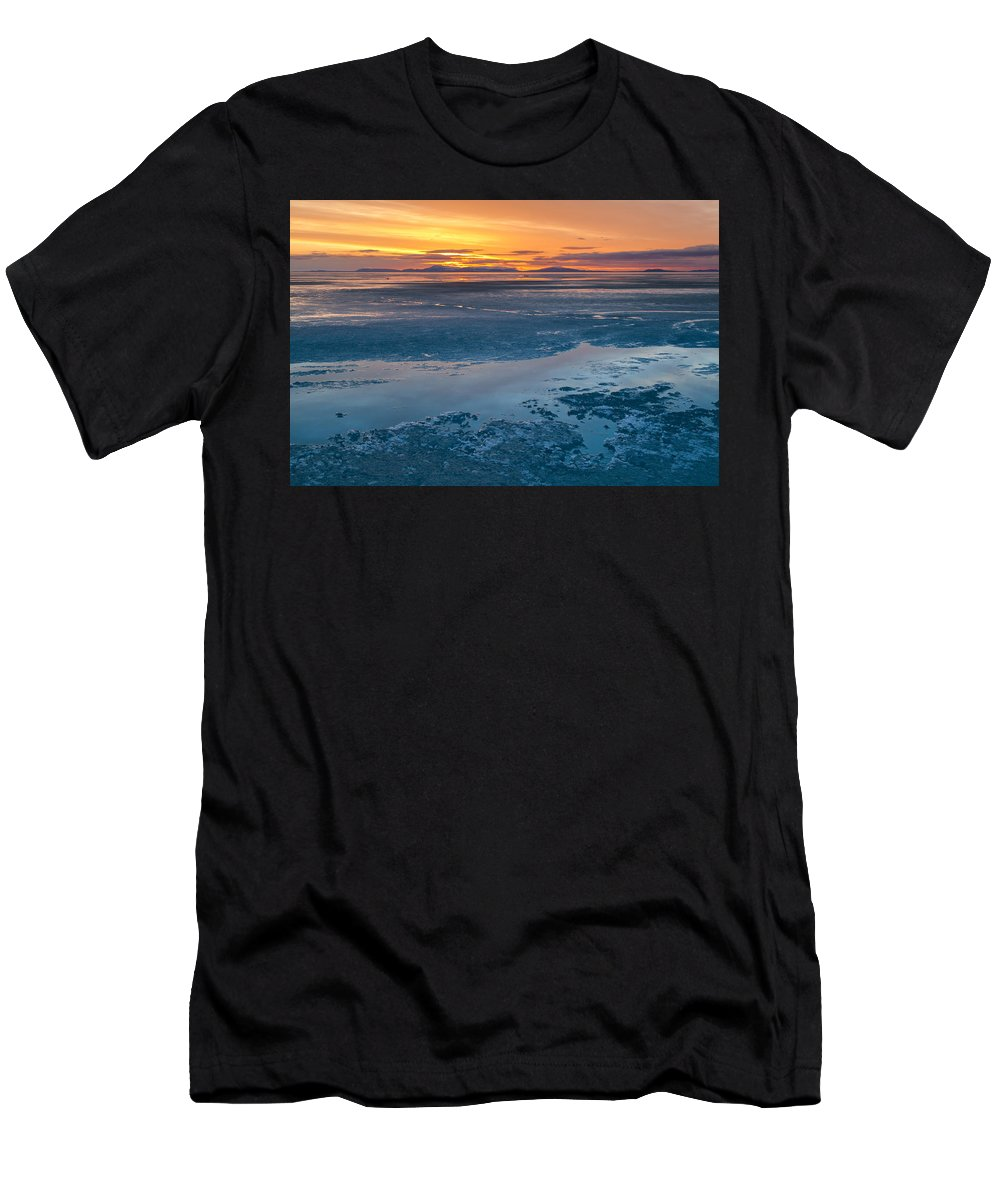 Alaska Men's T-Shirt (Athletic Fit) featuring the photograph Kotzebou, Alaska by Scott Slone