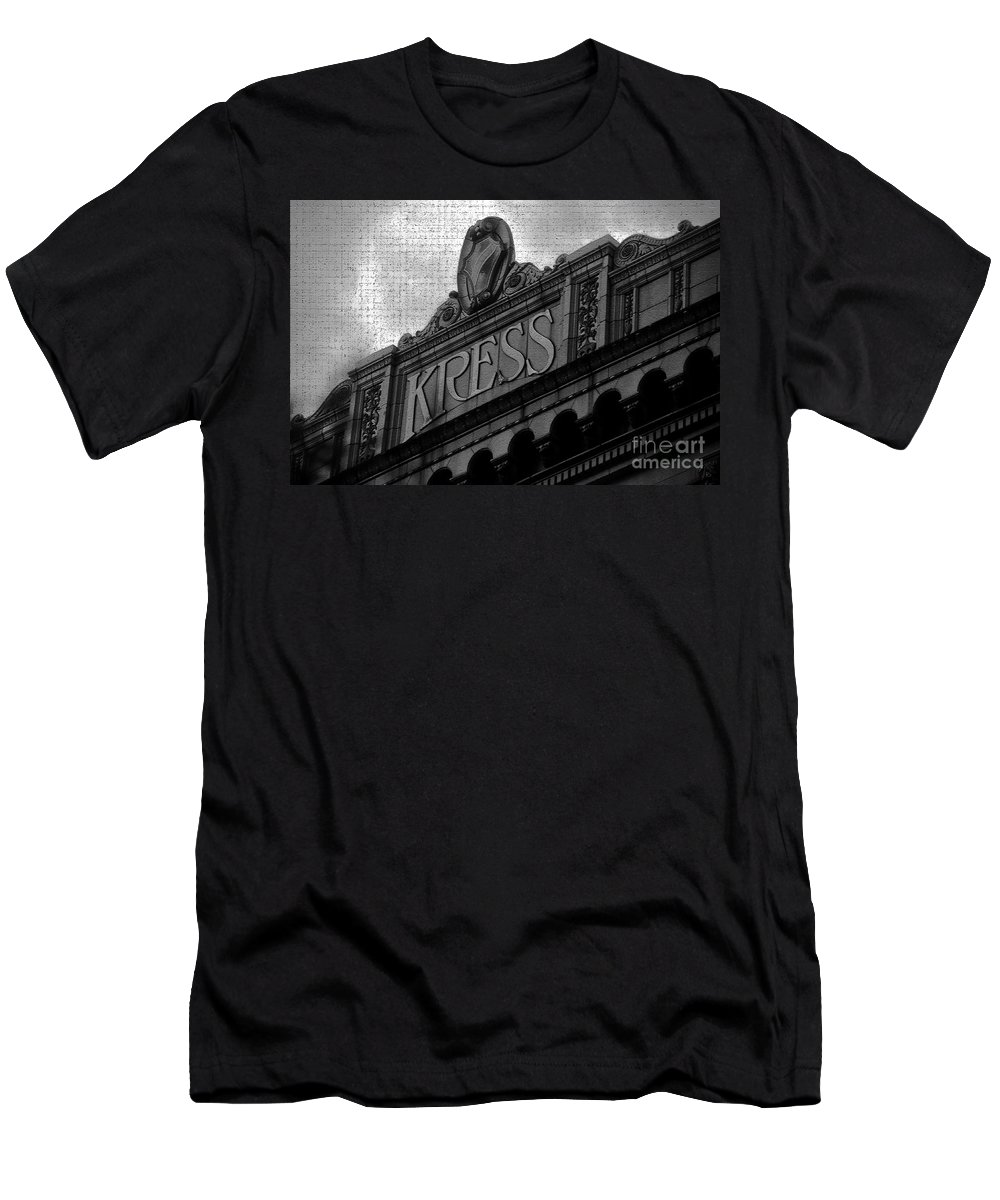 S. H. Kress Men's T-Shirt (Athletic Fit) featuring the photograph Kress 1929 by David Lee Thompson