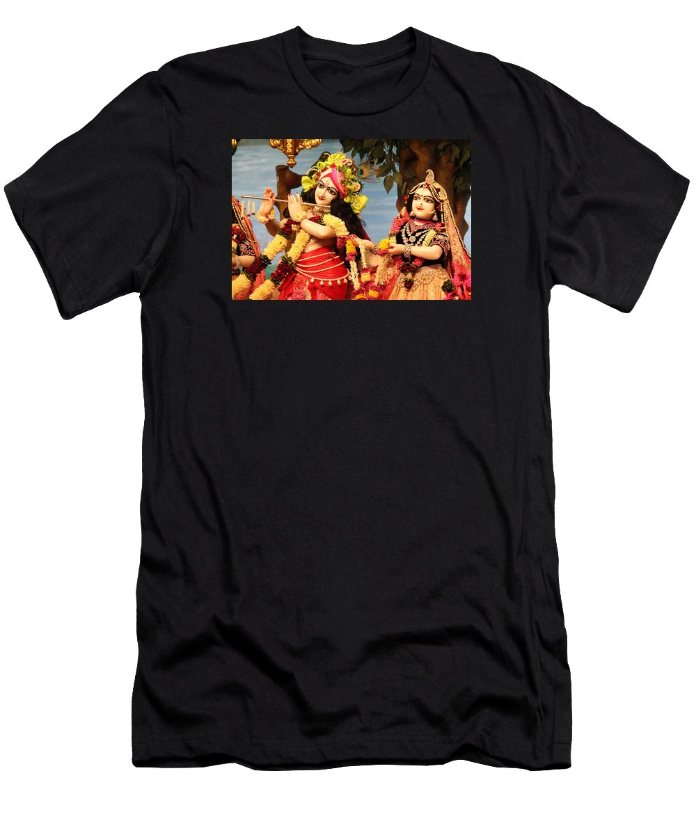 f4964cb7 Krishna Men's T-Shirt (Athletic Fit) featuring the photograph Krishna And  Radha At