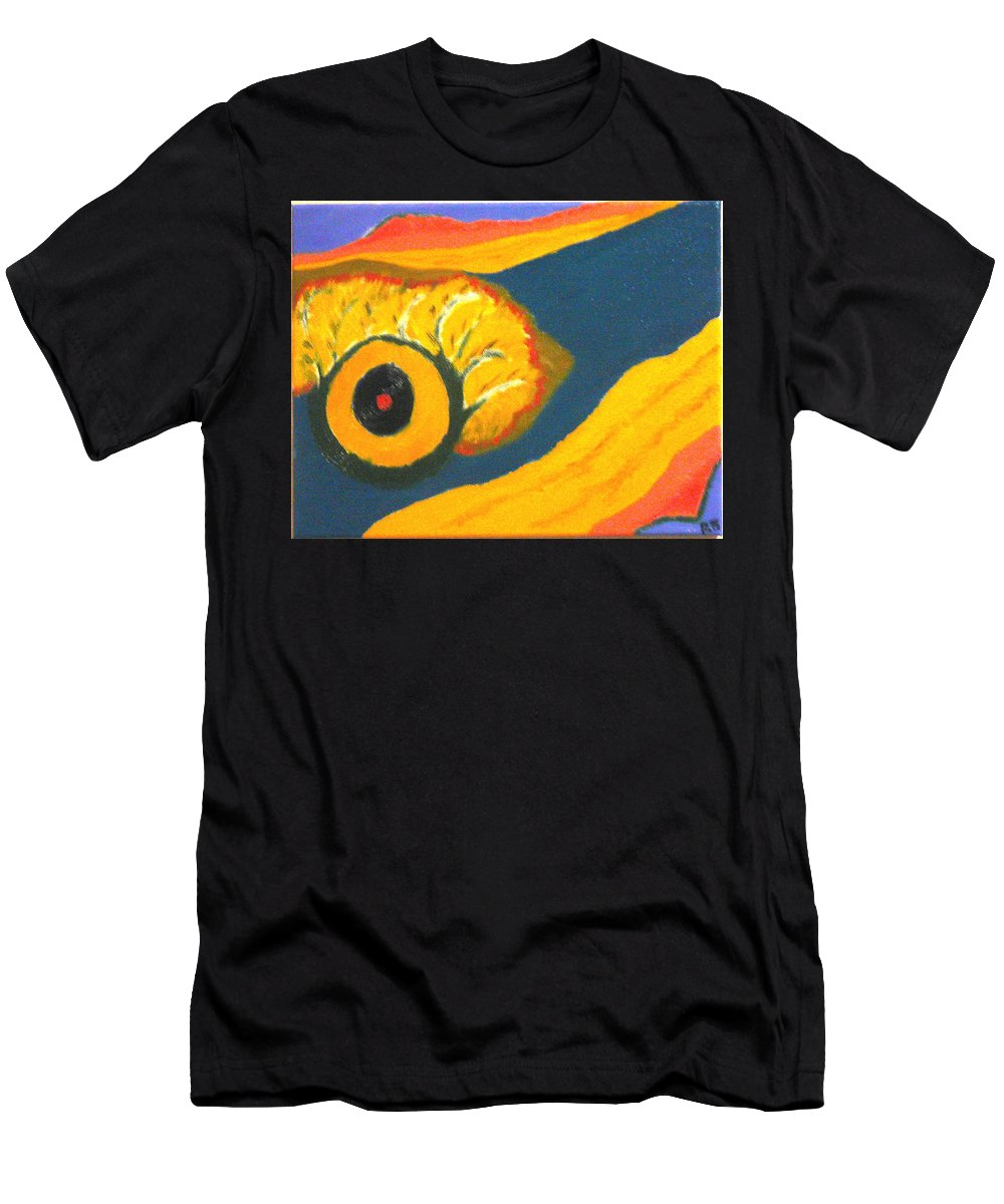 Men's T-Shirt (Athletic Fit) featuring the painting Krshna by R B