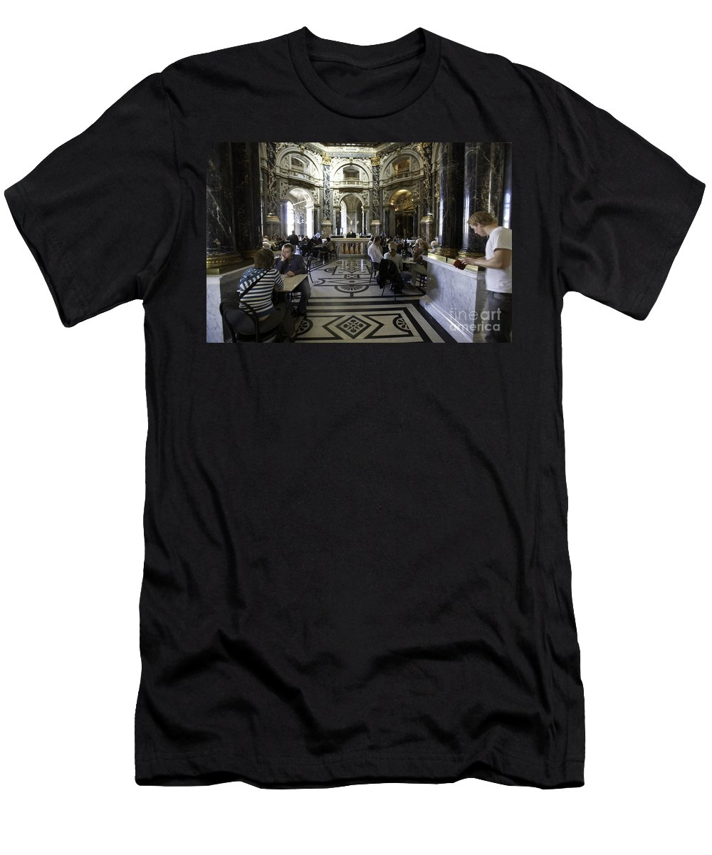 Kunsthistorische Museum Men's T-Shirt (Athletic Fit) featuring the photograph Kunsthistorische Museum Cafe by Madeline Ellis