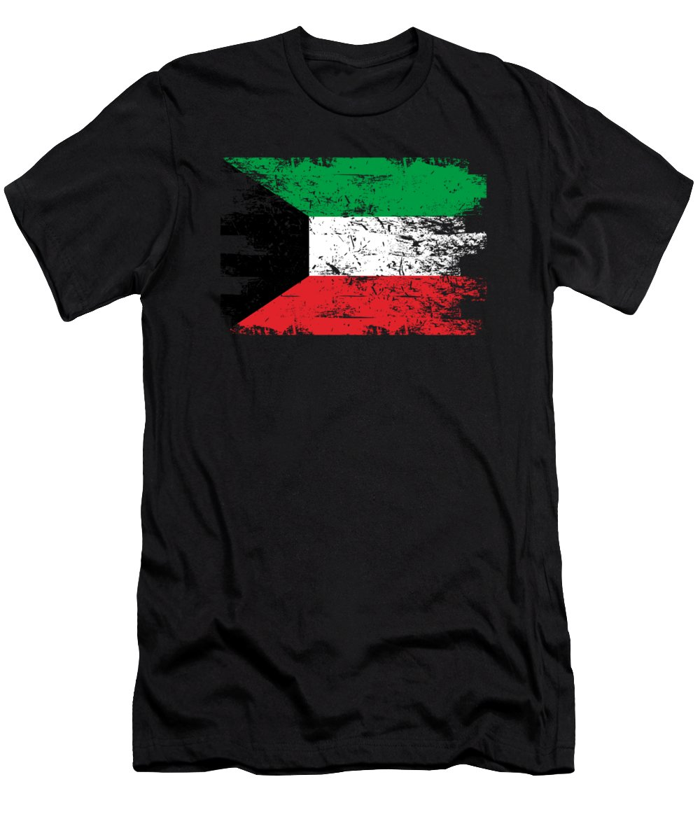 Patriotic Men's T-Shirt (Athletic Fit) featuring the digital art Kuwait Shirt Gift Country Flag Patriotic Travel Asia Light by J P