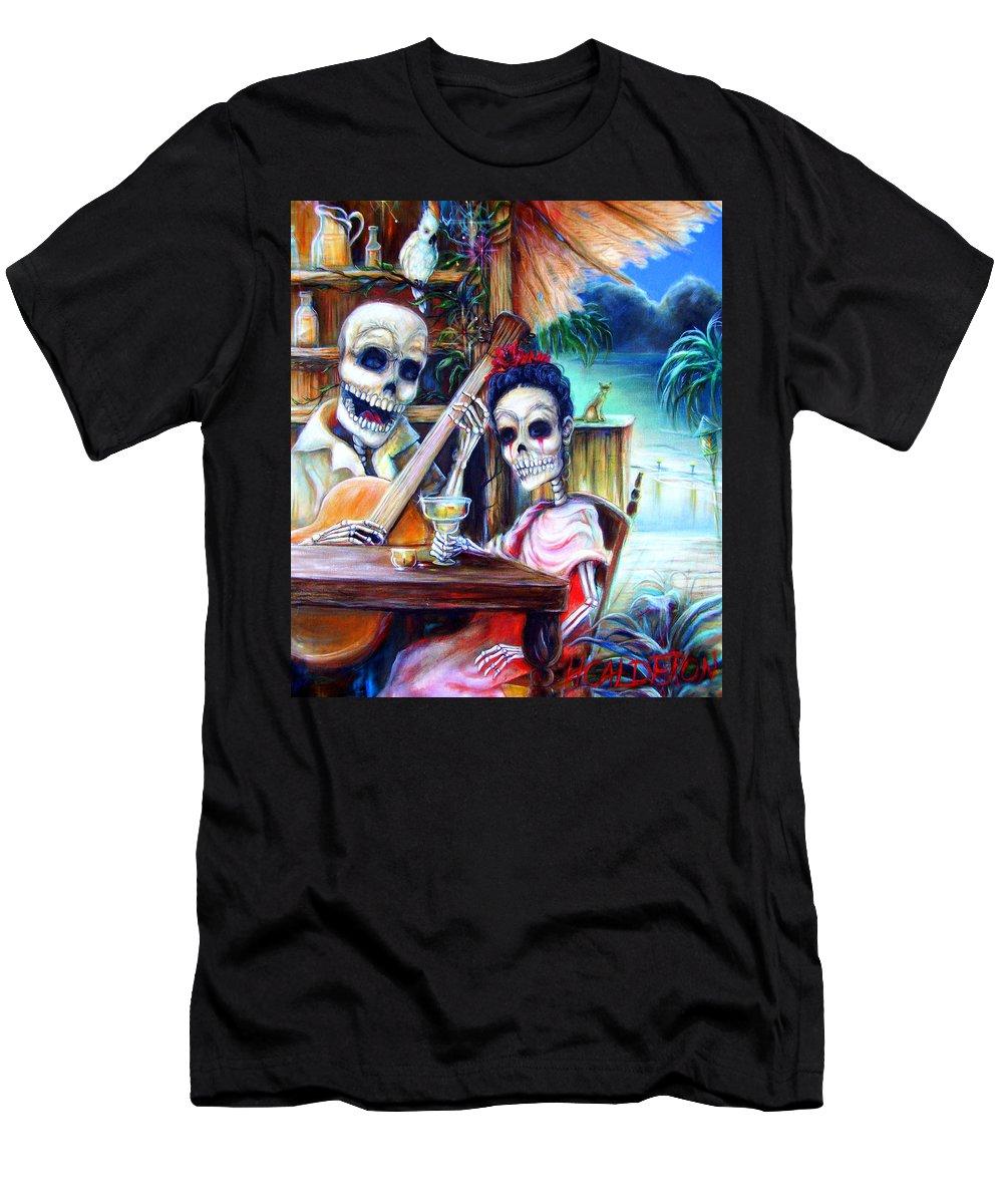 Dia De Lost Muertos Men's T-Shirt (Athletic Fit) featuring the painting La Borracha by Heather Calderon