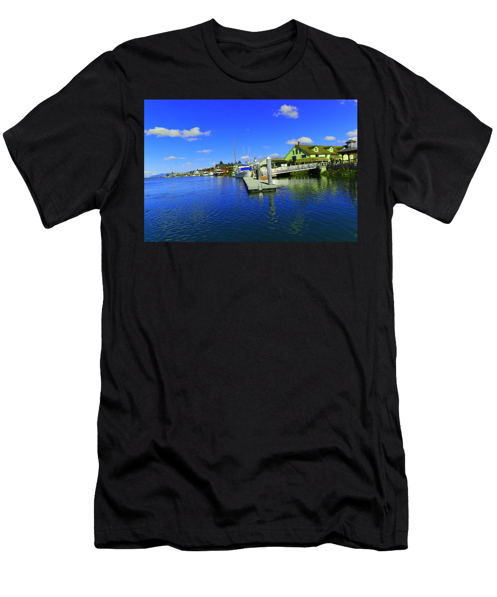 Water Men's T-Shirt (Athletic Fit) featuring the photograph La Conner Washington by Jeff Swan