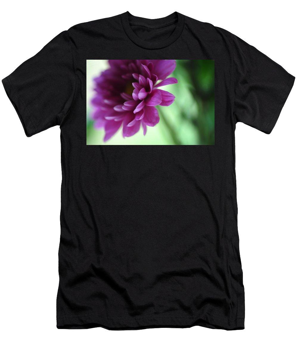 Chrysanthemum Men's T-Shirt (Athletic Fit) featuring the photograph La Fleur De L' Amour by Jenny Rainbow