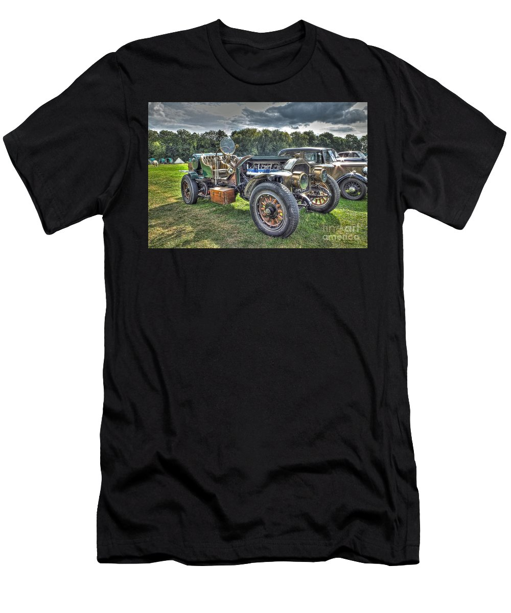 Car Men's T-Shirt (Athletic Fit) featuring the photograph La France Speedster by Catchavista