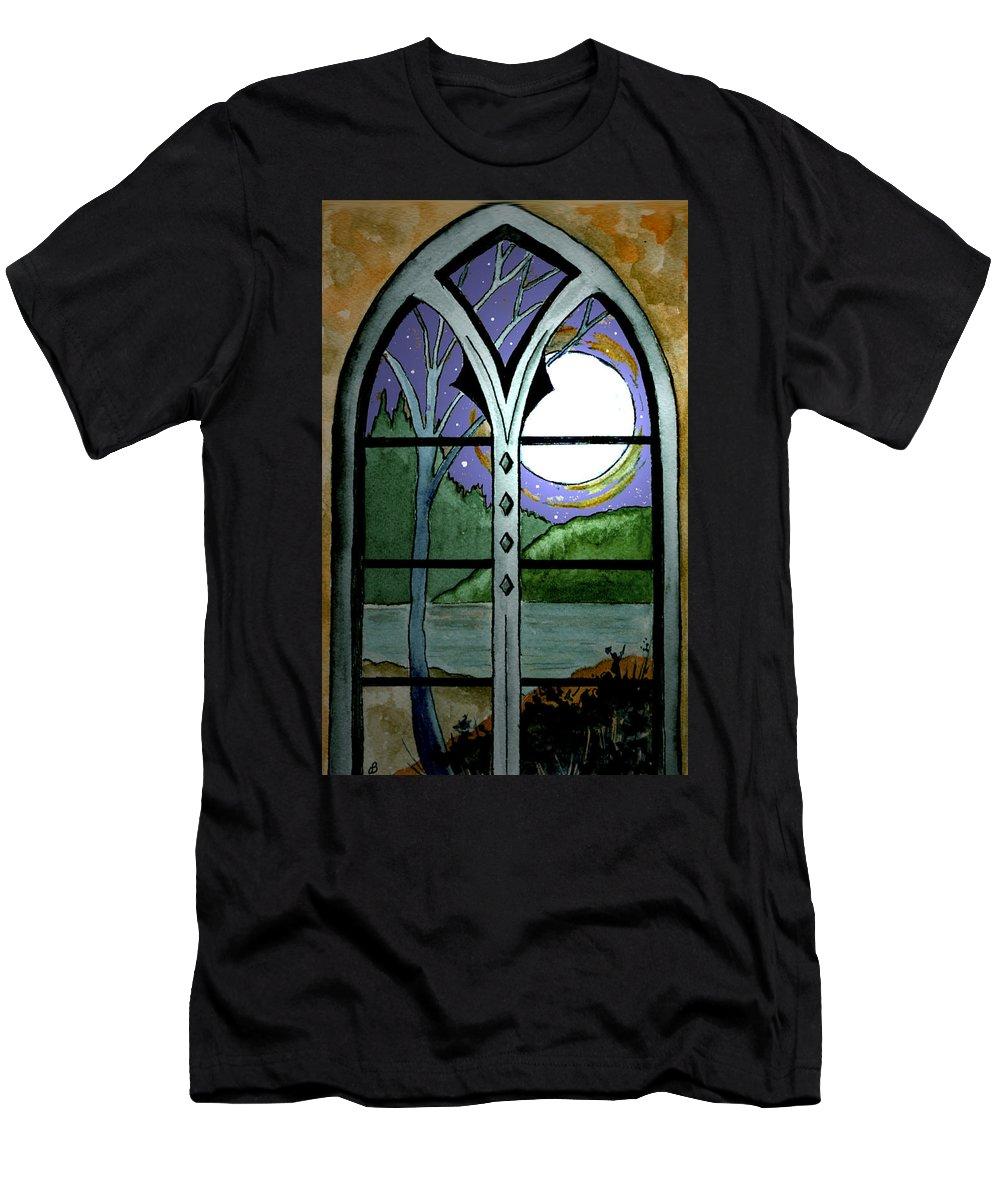 Landscape Men's T-Shirt (Athletic Fit) featuring the painting La Luna by Brenda Owen