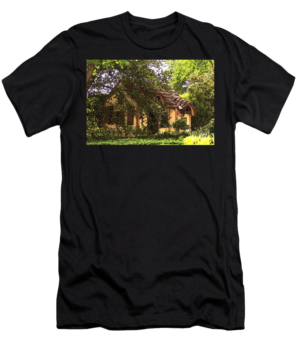 Cottage Men's T-Shirt (Athletic Fit) featuring the photograph La Maison by Debbi Granruth