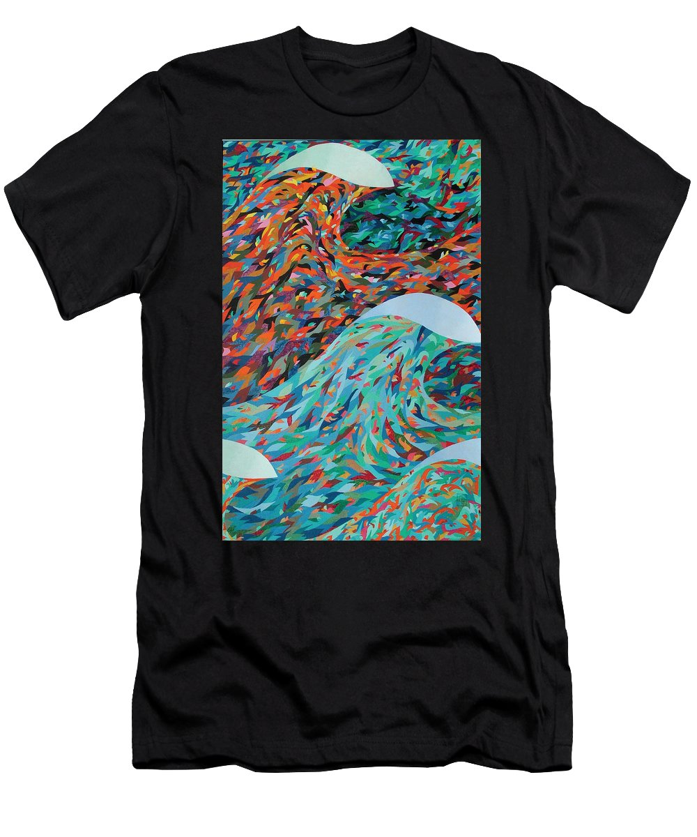 Oil Men's T-Shirt (Athletic Fit) featuring the painting La Mer by Peter Antos