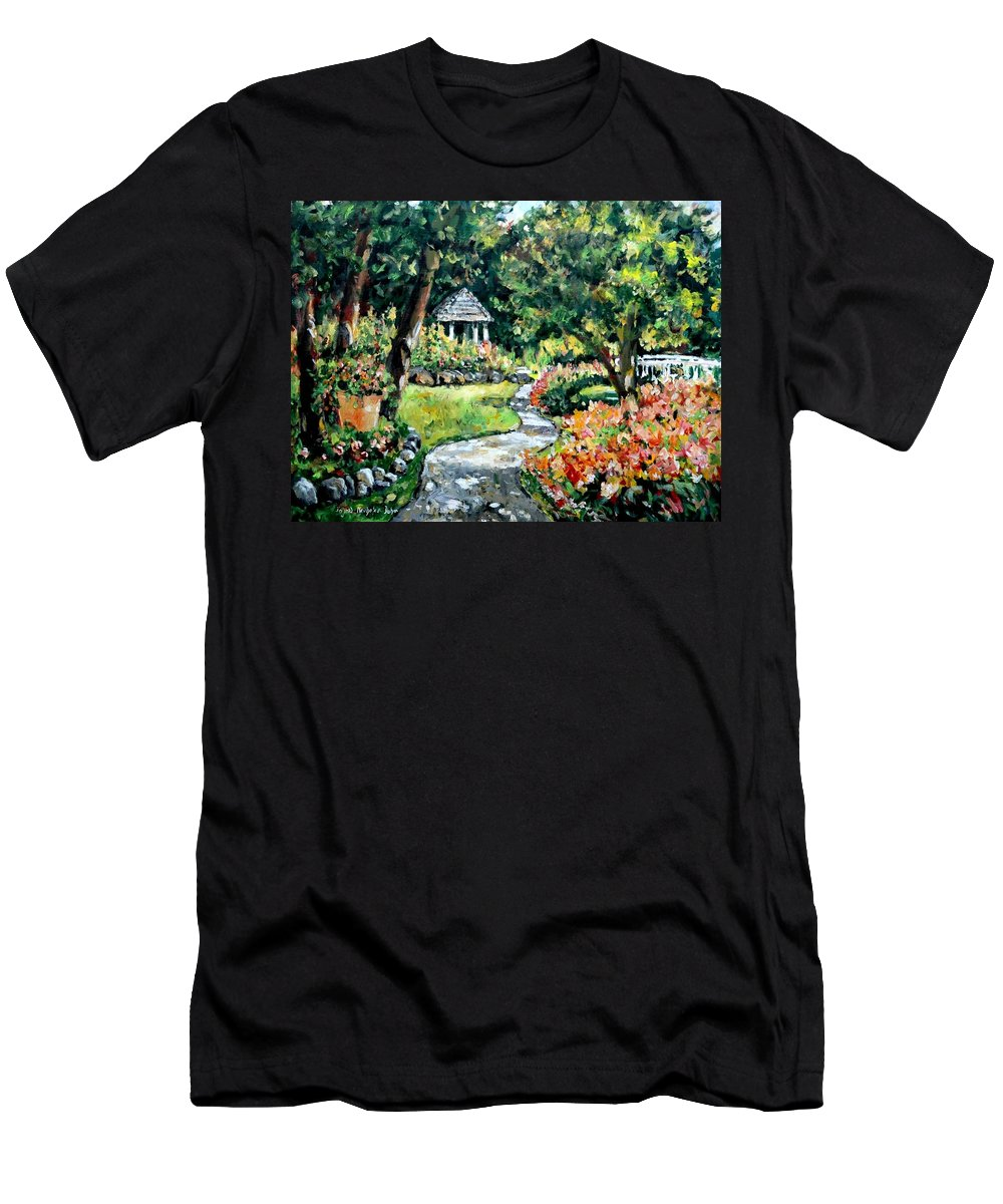 Landscape Men's T-Shirt (Athletic Fit) featuring the painting La Paloma Gardens by Alexandra Maria Ethlyn Cheshire