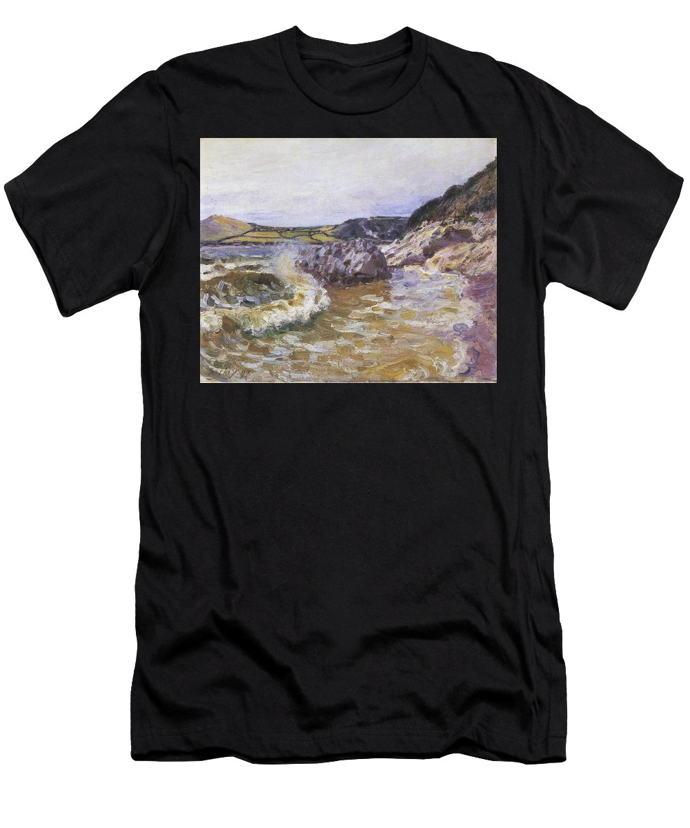 Lady's Cove Men's T-Shirt (Athletic Fit) featuring the painting Lady Cove by MotionAge Designs