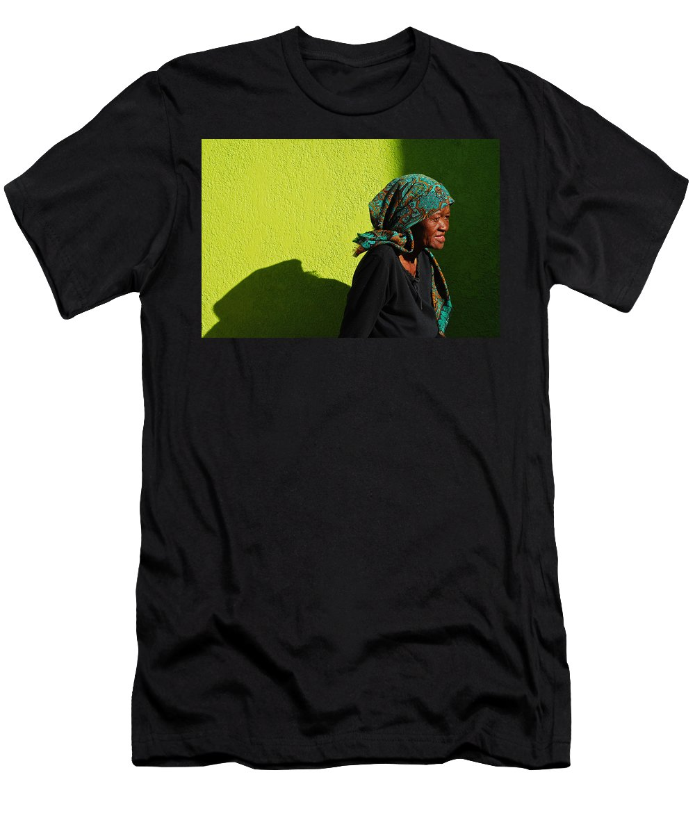 Africa Men's T-Shirt (Athletic Fit) featuring the photograph Lady In Green by Skip Hunt