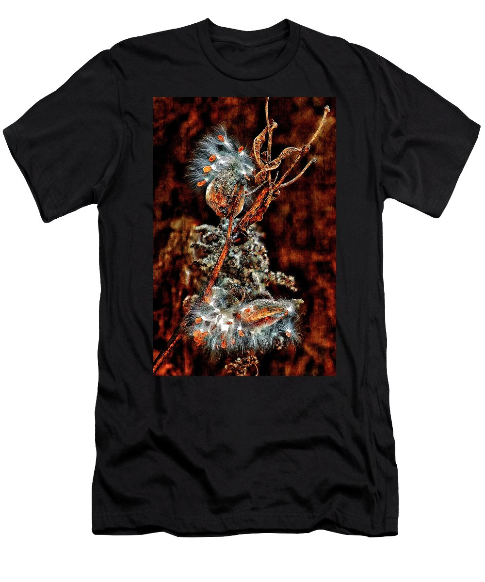 Milkweed Men's T-Shirt (Athletic Fit) featuring the photograph Lady Of The Dance II by Steve Harrington